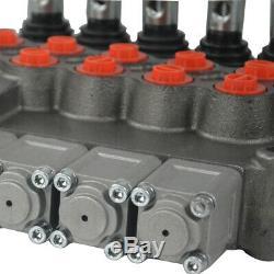 11 Gpm Commande De Direction Hydraulique Tracteur Valve Chargeur Avec Joystick, 5 Spool