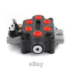 1pc 2spool Hydraulique Commande Directionnelle Valve Tracteur 3000psi Double Par Intérim Nouveau