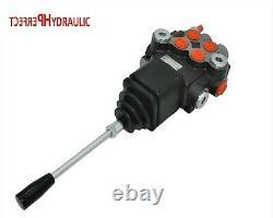 1x Floating 2 Spool Hydraulic Directional Control Valves Joystick 1xda 40l 23gpm