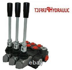 1x Floating 3 Bobines Valves De Commande Directionnelle Hydraulique 2x Da Double 40l 11 Gpm