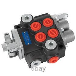 2 Bobine 11 Gpm De Commande Directionnelle Hydraulique Chargeur De Tracteur Avec Joystick