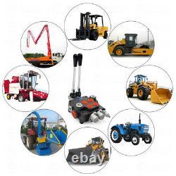 2 Bobine Hydraulique De Commande Directionnelle Valve 11gpm Chargeurs De Tracteurs Réglables