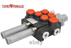 2 Bobine Hydraulique De Commande Directionnelle Valve 21gpm 80l Câble Kit 2x Double Action