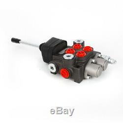 2 Bobine Hydraulique Vanne Directionnelle 2p40, Double Effet Cylindre Spool 11gpm Us