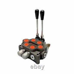 2 Bobine Monoblock Hydraulic Directional Control Valve Double Acting 25gpm 300psi