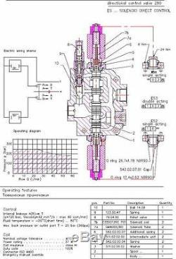 2 Soupape De Commande Directionnelle Hydraulique À Solénoïde Bobine 21gpm 12vcc, Monobloc