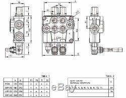 2 Soupape De Commande Directionnelle Hydraulique Bobine 32gpm, Le Cylindre À Double Effet Bobine