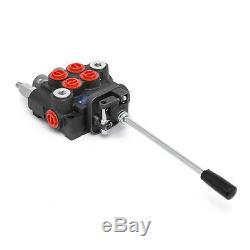 2 Spool 11 Gpm Commande De Direction Hydraulique Tracteur Valve Chargeur Avec Joystick