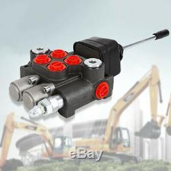 2 Spool Directionnelle Hydraulique De Commande De Soupape Avec Joystick, 11 Gpm