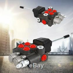 2 Spool Hydraulique Commande Directionnelle 11gpm Valve Double Effet Cylindre Nouveau