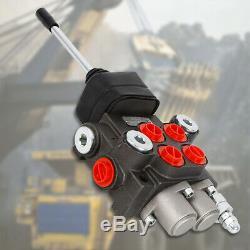 2 Spool Hydraulique Commande Directionnelle Valve Double Effet 11 Gpm Spool Moteur États-unis