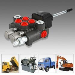 2 Spool Hydraulique De Commande Directionnelle Valve 11gpm, Double Effet Cylindre 40l