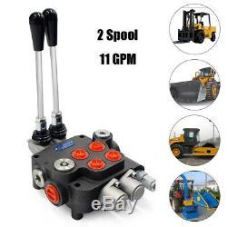 2 Spool Hydraulique De Commande Directionnelle Valve 11gpm Réglable Pour Tracteurs Chargeur