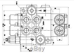 2 Spool Hydraulique Directionnel Vanne De Régulation 11gpm 4300psi Petits Tracteurs Moteur