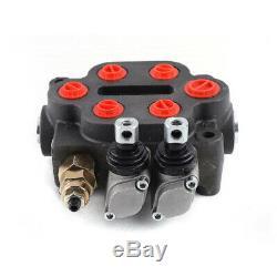 2 Spool Hydraulique Monobloc De Commande Directionnelle Hydraulique Valve 25 Gpm 90l / Min