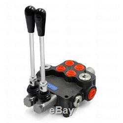 2 Spool Monobloc Hydraulique Directionnelle Vanne De Régulation De Pression Réglable 11 Gpm