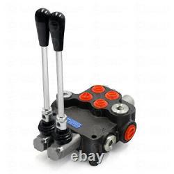 2 Valve De Commande Directionnelle Hydraulique De Bobine 11gpm Cylindre Double Action 40l/min
