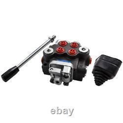 2 Valve De Commande Hydraulique De Bobine 11gpm Cylindre À Double Action Directionnelle 40l/min