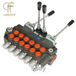 21 Gpm 6 Robinet De Commande Directionnelle Hydraulique À Bobine Avec 2 Joysticks