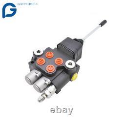 21gpm 2 Spool Robinet De Commande Hydraulique Directionnelle Pour Chargeur Tracteur Avecjoystick