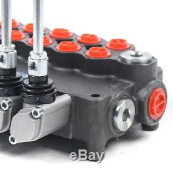 21gpm Hydraulique Directionnel Ajuster. Control Valve 6spool Fit Tracteur Loadernew