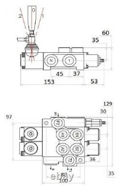 2x Floating 2 Bobines Valves De Commande Directionnelle Hydraulique 2x Da Double 40l 11 Gpm