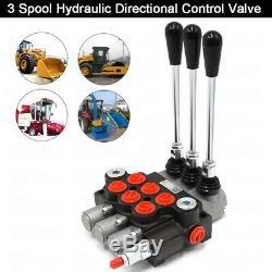3 Bobine Hydraulique De Commande Directionnelle Valve 11gpm De Pression Réglable Pour Chargeur