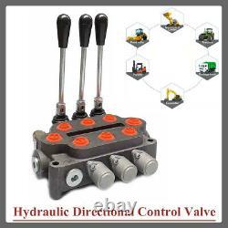 3 Bobine Hydraulique De Commande Directionnelle Valve À Double Action 25 Gpm 1500-3000 Psi