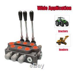 3 Bobine Hydraulique De Commande Directionnelle Valve Double Effet 3000 Psi 25 Us Gpm Sto