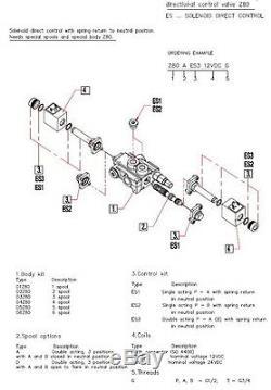 3 Soupape De Commande Directionnelle Hydraulique À Solénoïde Bobine 21gpm 12vcc, Monobloc