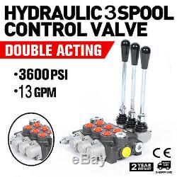 3 Spool 13gpm De Commande Directionnelle Hydraulique Valve D'exploiter 60l / Min Top Vente