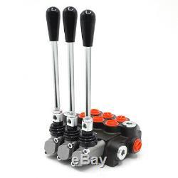 3 Spool Hydraulique Directionnelle Vanne De Régulation De Pression Valves11 Gpm 40l / Min 20mpa