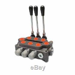 3 Tiroir 25 Soupape De Commande Directionnelle Hydraulique Gpm À Double Tiroir De Vérin À