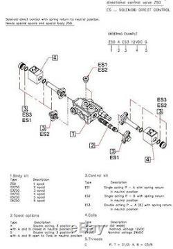 3 Tiroir Soupape Hydraulique À Solénoïde Directionnels 13gpm / 50lpm Ports 12vcc 3z50 Bsp