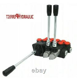 4 Bank Hydraulic Directional Control Valve Joystick 23gpm 40l 3x Double Action