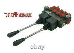 4 Bank Valve De Commande Directionnelle Hydraulique 2x Joystick 11gpm 40l 4xdouble Action