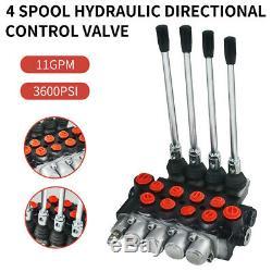 4 Bobine Hydraulique Commande Directionnelle Valve 11gpm Motors Double Effet