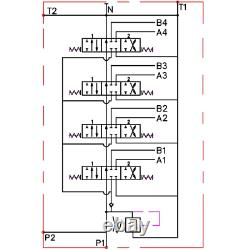 4 Bobine Hydraulique De Commande Directionnelle Valve 2x Joystick 11gpm 40l 4x Da Double