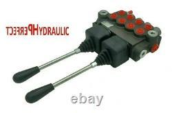 4 Bobine Hydraulique De Commande Directionnelle Valve 2x Joystick 21gpm 80l 4x Da Double