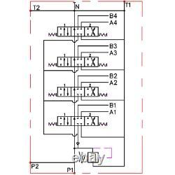 4 Bobine Hydraulique Directional Control Valve 2x Joystick 11gpm 40l 4x Da Double