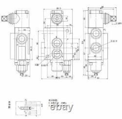 4 Bobine Monoblock Hydraulic Directional Control Valve Réglable Pression 13 Gpm