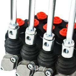 4 Spool Directionnelle Hydraulique Vanne De Régulation 11gpm, Double Effet Cylindre Spool