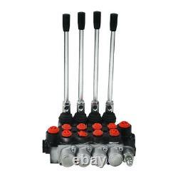 4 Spool Hydraulique Commande De Direction Valve Vérin À Double Effet Spool 11gpm