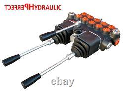5 Bank Hydraulic Directional Control Valve 2x Joystick 23gpm 40l 5x Double 5xda