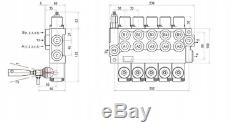 5 Banque Hydraulique Monobloc Directionnel Spool Valve 3/8 Bsp 40l 315 Bar 11 Gpm