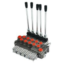 5 Bobine Hydraulique Commande Directionnelle Valve 11gpm Motors Double Effet Monobloc
