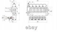 5 Bobine Hydraulique De Commande Directionnelle Valve 11gpm, Double Effet Cylindre 40l
