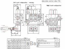5 Soupape De Commande Directionnelle Hydraulique Bobine 11gpm, Le Cylindre À Double Effet Bobine