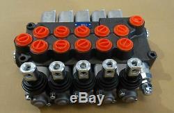 5 Spool Directionnelle Hydraulique De Commande De Soupape Cinq Bobine -60lt / Min P560