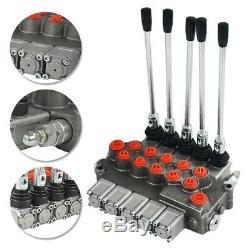 5 Spool Hydraulique Commande De Direction Valve Vérin À Double Effet Spool 11gpm